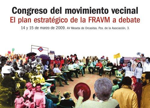 La FRAVM celebra el Congreso del movimiento vecinal