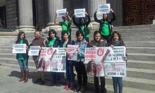 La FRAVM, con la huelga estudiantil del 13 y 14 de abril