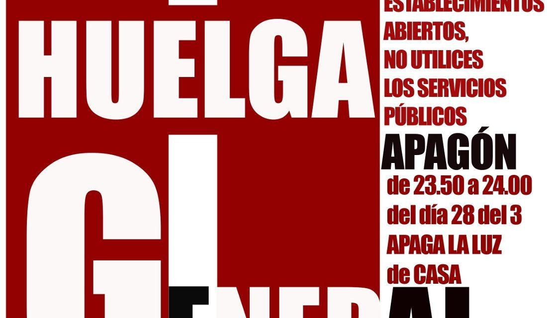 La FRAVM llama a la huelga social y a la movilización ciudadana el 29M