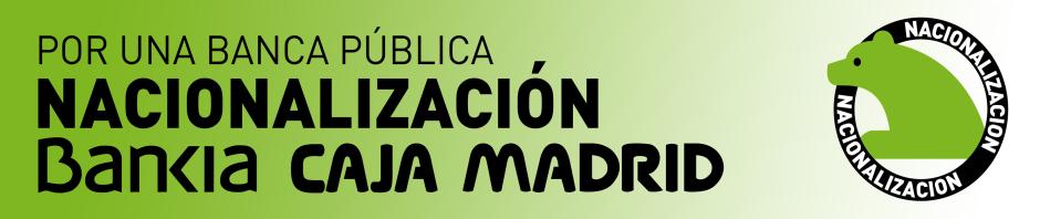 La FRAVM pide la nacionalización de Caja Madrid-Bankia