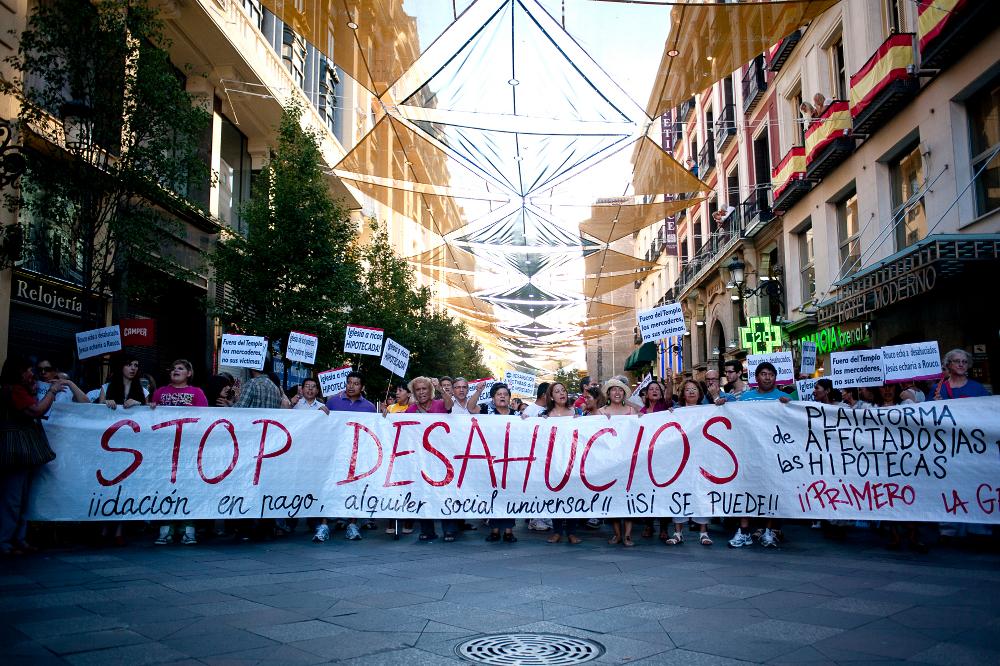 La FRAVM pide la paralización inmediata y definitiva de los desahucios
