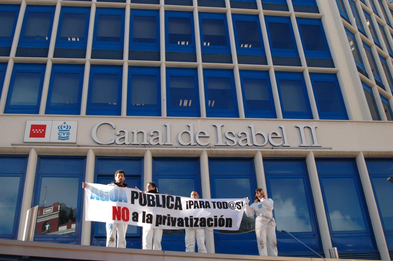 La FRAVM presenta un recurso contra la adopción, por parte del Ayuntamiento de Madrid, de la gestión privada del Canal de Isabel II