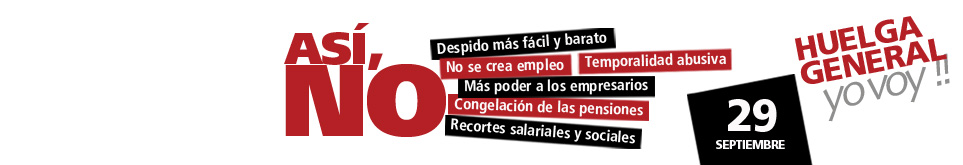 La FRAVM se suma a la convocatoria de la huelga general del 29-S