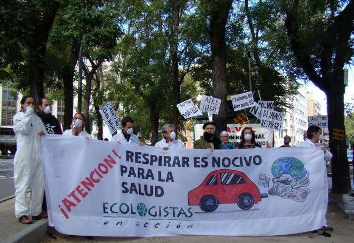 La FRAVM y Ecologistas en Acción denuncian la inacción del Ayuntamiento de Madrid ante la contaminación atmosférica