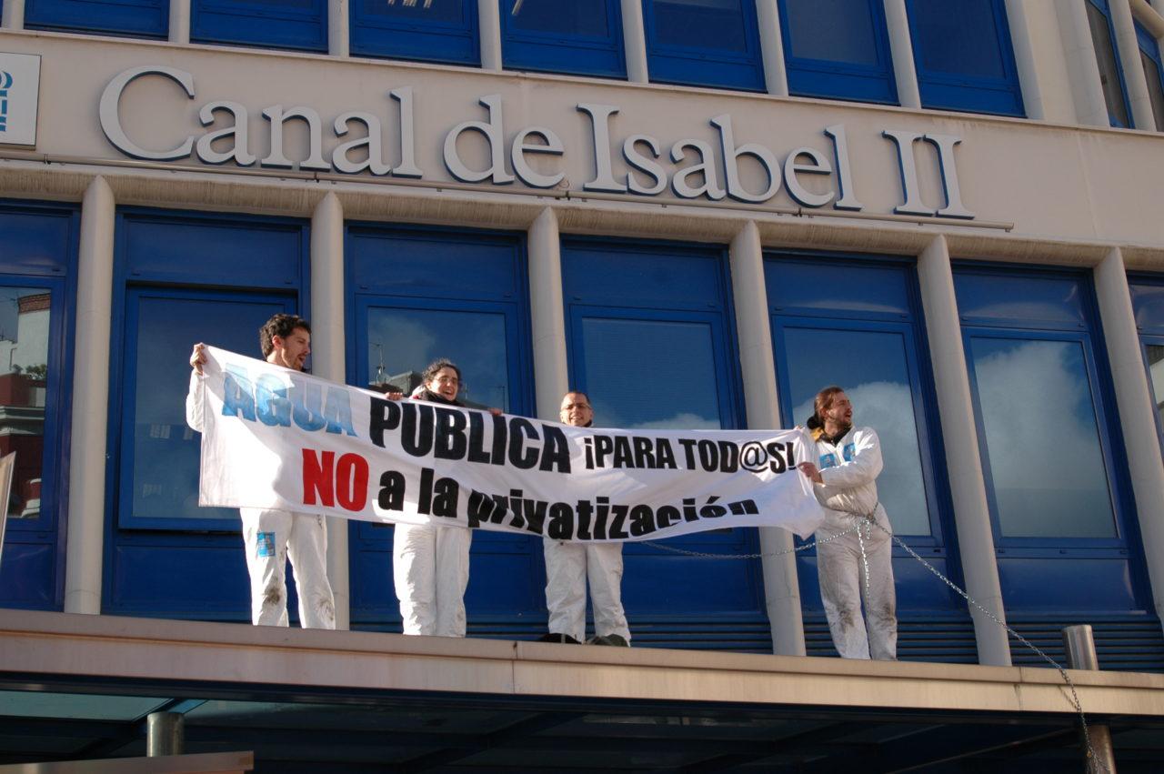 La Mesa del Agua exige al Gobierno regional los contratos sobre la privatización del Canal de Isabel II