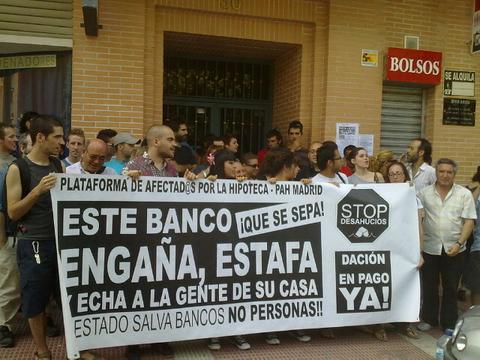 La PAH acompañará a las víctimas de estafas hipotecarias a los juzgados de Plaza de Castilla