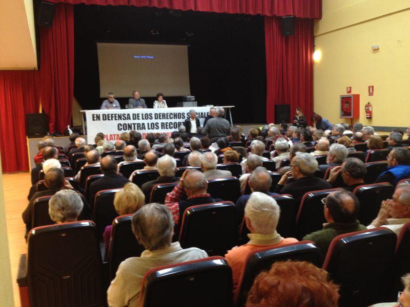 La Plataforma Mayores en Acción llama a la movilización contra los recortes
