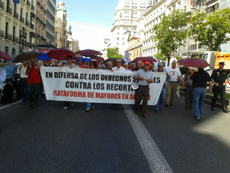 La Plataforma Mayores en Acción sale a la calle contra los recortes