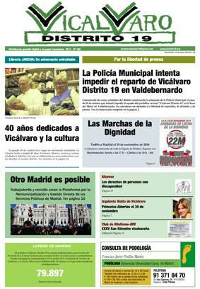 La Policía Municipal intenta impedir el reparto de Vicálvaro Distrito 19 en Valdebernardo