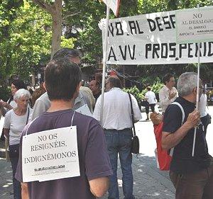 La asociación vecinal de Prosperidad se niega a abandonar su local a pesar del ultimátum de la Comunidad de Madrid