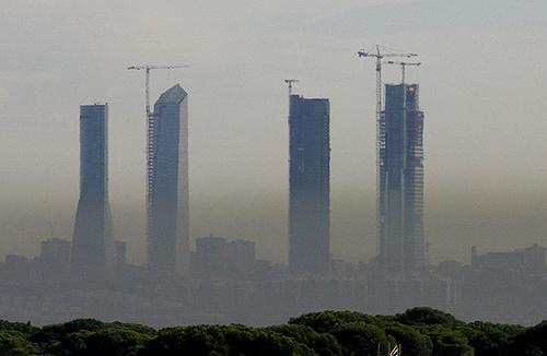La contaminación atmosférica se instala en Madrid