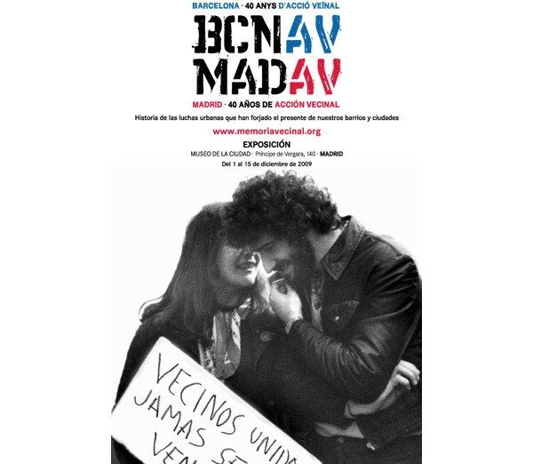 La exposición fotográfica <i>Madrid-Barcelona: 40 años de acción vecinal</i> abrirá sus puertas el 1 de diciembre