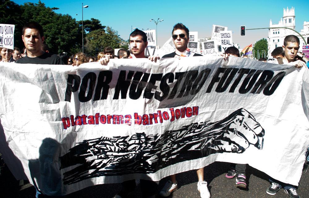 La juventud indignada ocupa las calles de Madrid