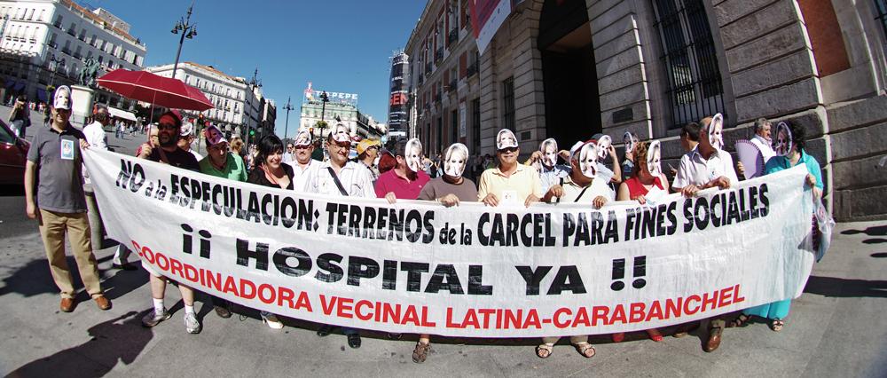 La lucha por la construcción de un hospital en los terrenos de Carabanchel sigue