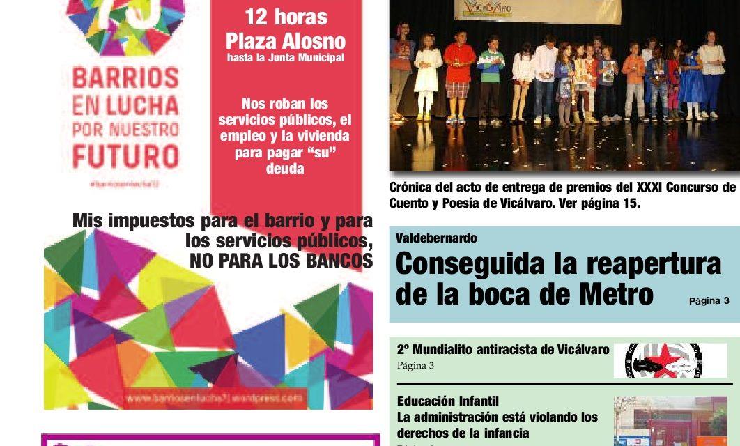 La policía municipal impide repartir el periódico Distrito 19 a la asociación vecinal de Valdebernardo