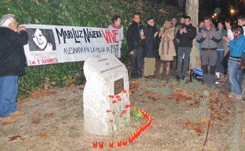 La universidad y los movimientos sindical y vecinal rinden homenaje a Mari Luz Nájera y los abogados de Atocha