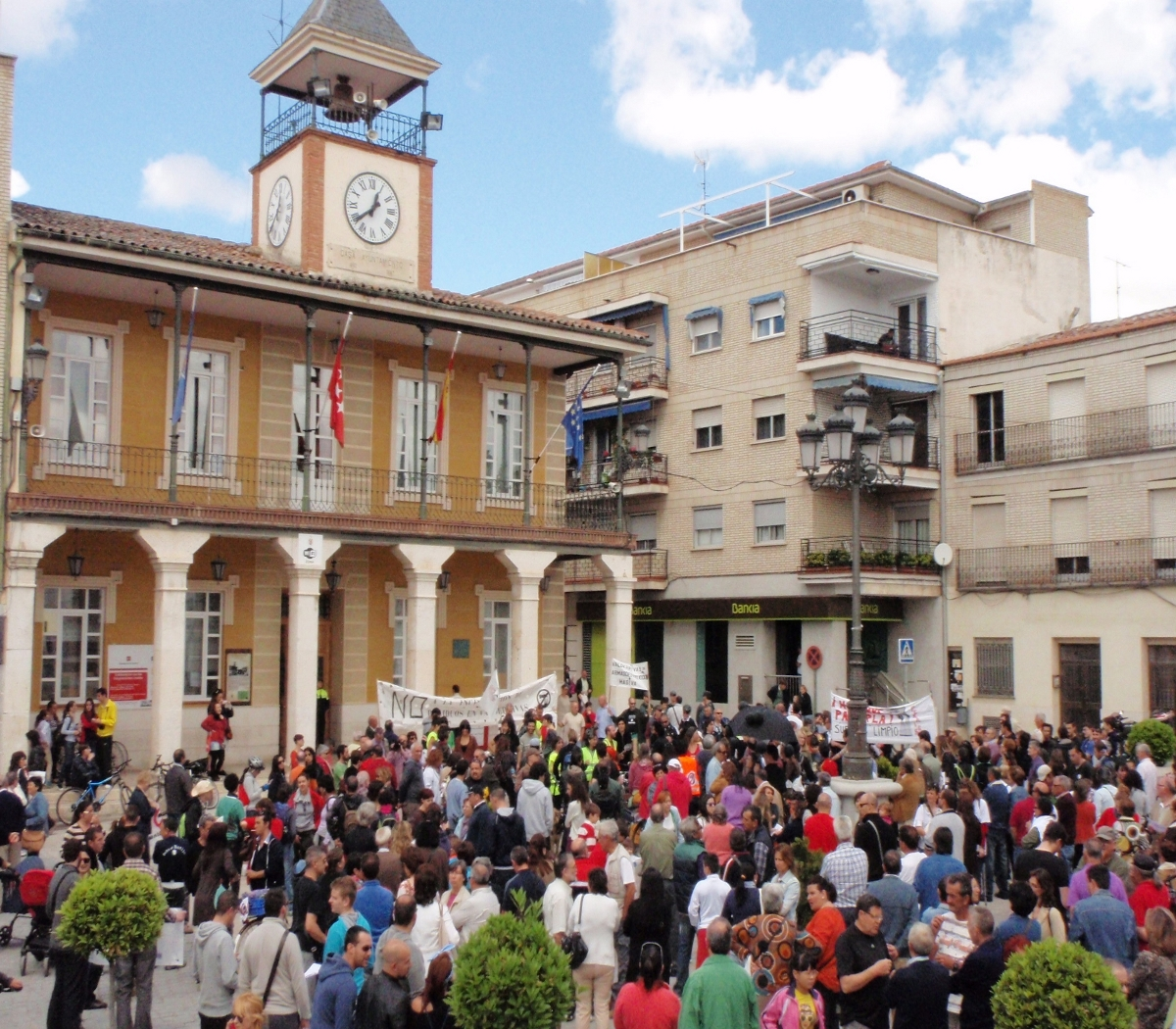 La vega del Tajuña, en pie contra la incineración de residuos en Morata