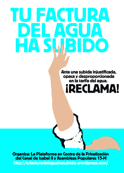 Lanzamos la campaña contra el tarifazo del agua