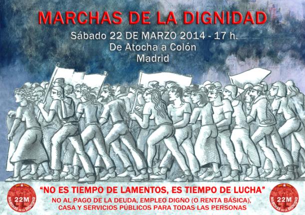 Las asociaciones vecinales con la Marchas de la Dignidad