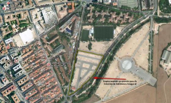 Las asociaciones vecinales de Alcalá, contra el traslado provisional de la estación de autobuses al antiguo recinto ferial