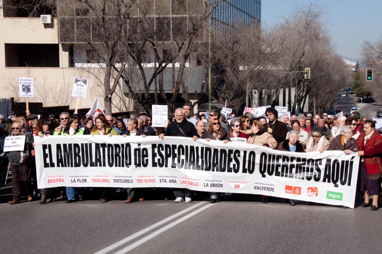 Las asociaciones vecinales de Fuencarral se plantan ante la Consejería de Sanidad