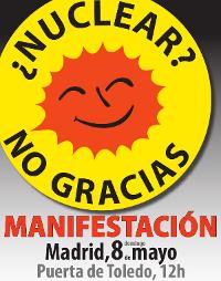 Las asociaciones vecinales de Madrid se suman a la movilización antinuclear del domingo
