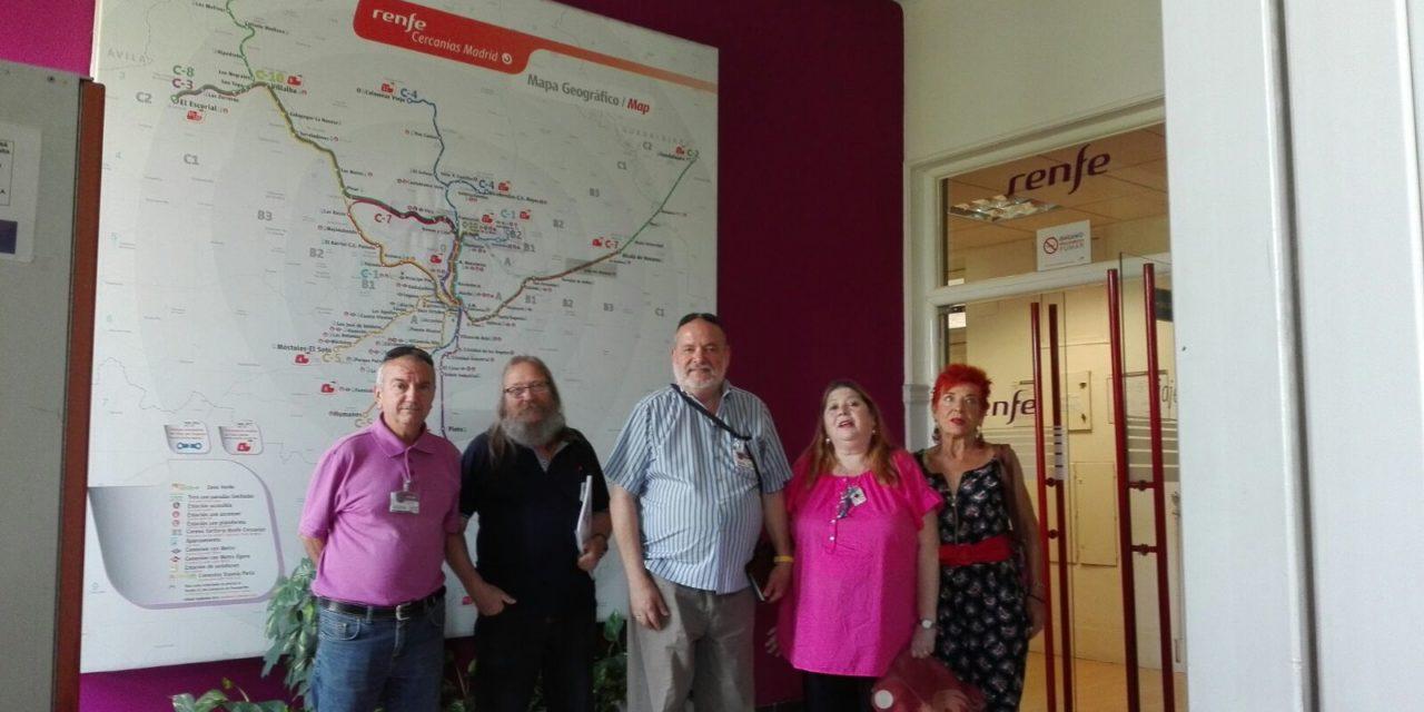 Las asociaciones vecinales del Corredor piden a RENFE mejoras en la estación de San Fernando