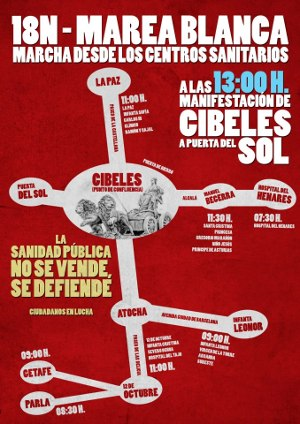 Las asociaciones vecinales llaman a cubrir Madrid de blanco el próximo domingo