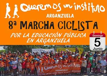 Las bicicletas vuelven a rodar por la construcción del tercer instituto público en Arganzuela