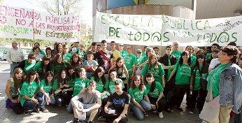 Las camisas verdes continúan su lucha por la educación pública en Vallecas