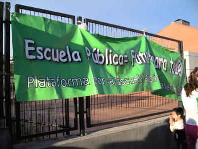 Las organizaciones en defensa de la educación pública se querellan contra el PP de Madrid