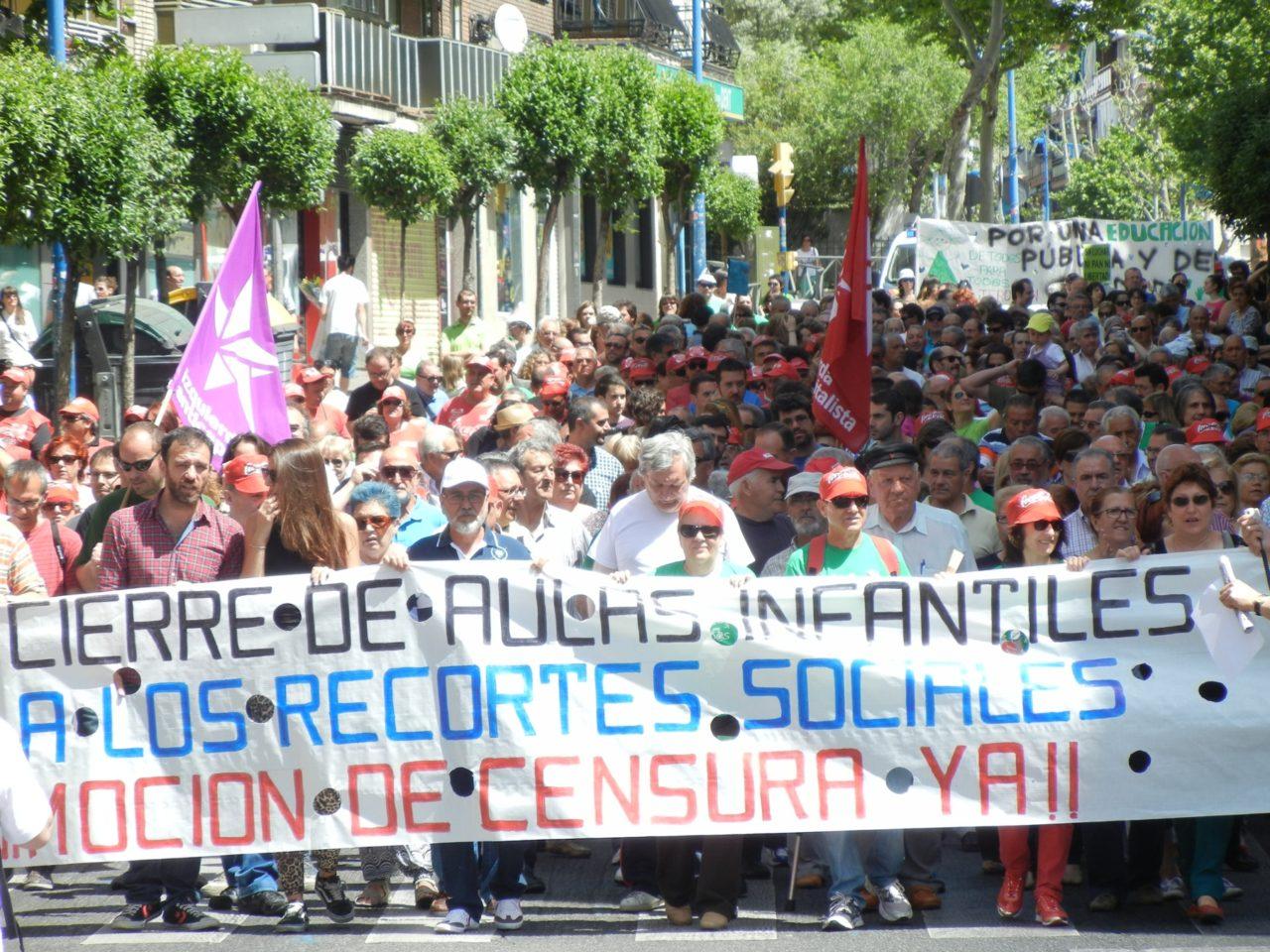 Leganés sale a la calle contra los recortes y la falta de participación ciudadana
