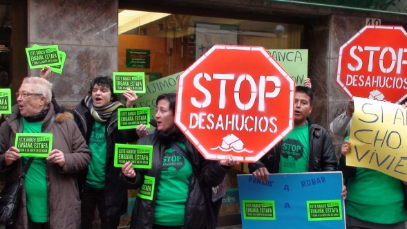 Los afectados por la hipoteca llaman a paralizar un desahucio en Tetuán