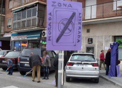 """Los anti-parquímetros celebran sus cinco años de lucha con la inauguración de una nueva """"zona liberada"""""""