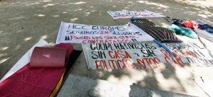 Los cooperativistas estafados del Sureste acampan en Atocha