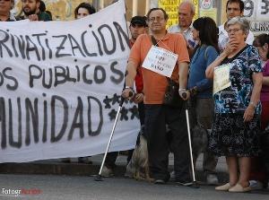 Los encerrados del Magerit responden a la amenaza de desalojo con una nueva marcha