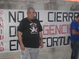 Lucrecio cumple su décimo día de huelga de hambre contra el cierre de las urgencias en La Fortuna (Leganés)