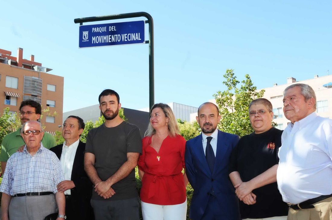 Madrid dedica una plaza al movimiento vecinal