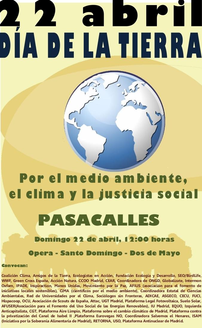Madrid saldrá a la calle el domingo en defensa del medio ambiente, el clima y la justicia social
