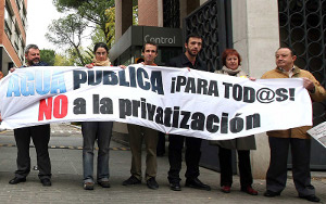 Madrid sale a la calle contra la privatización del agua