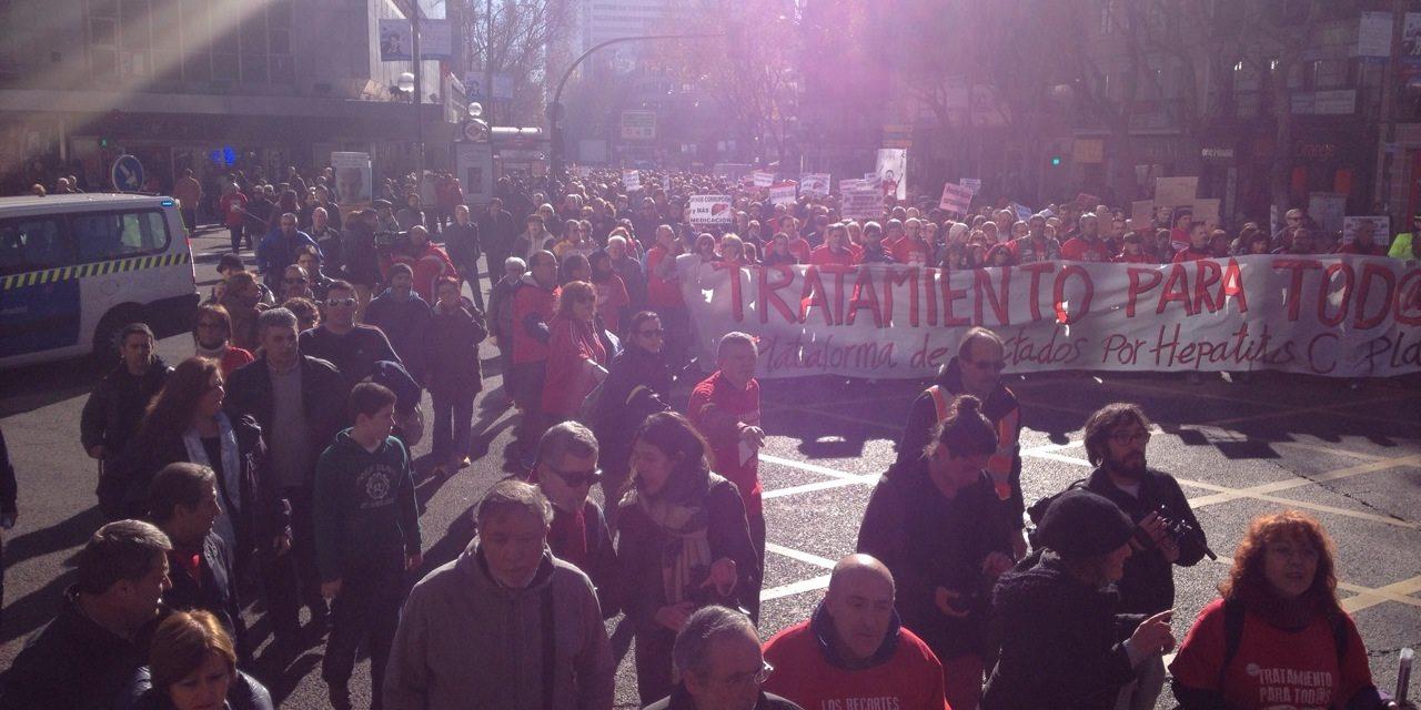 Madrid salió a la calle para exigir el acceso al tratamiento contra la hepatitis C