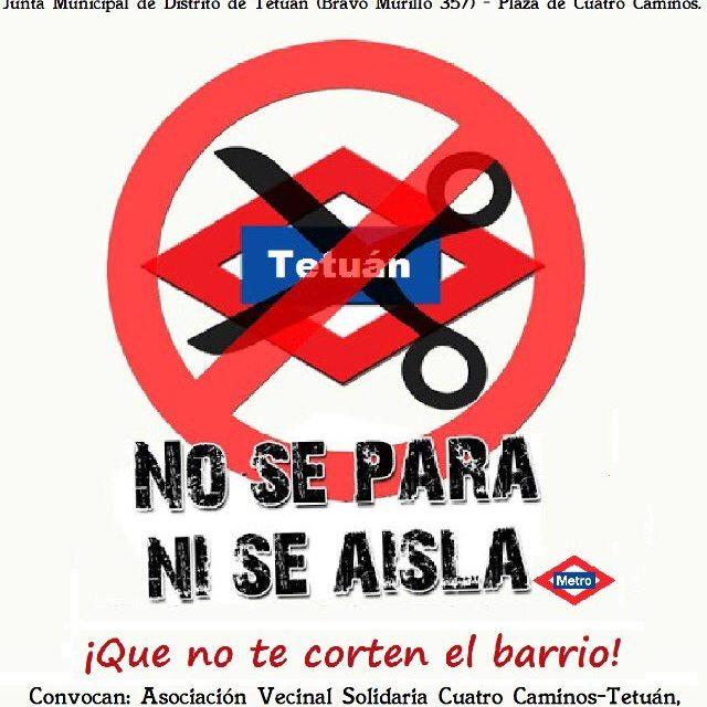 Obras en la Línea 1 de Metro: Tetuán tampoco se corta ni se aisla