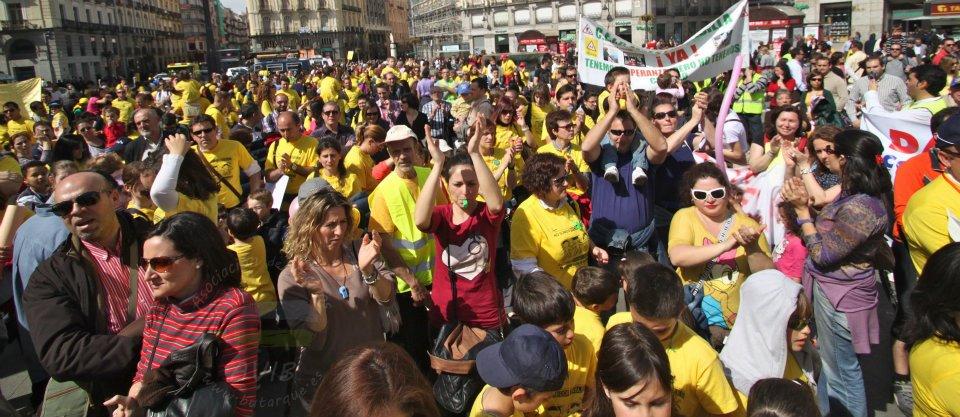 Rebelión de las aulas en la Puerta del Sol