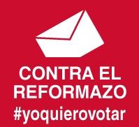 Sal a la calle contra la reforma de la Constitución y por la convocatoria de un referéndum