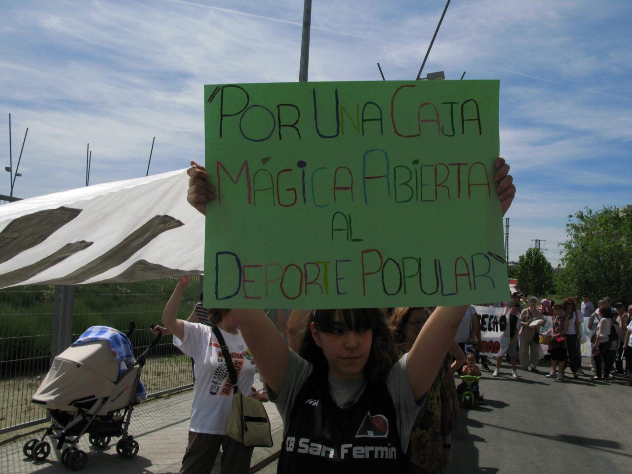 San Fermín exige la apertura de la Caja Mágica al barrio