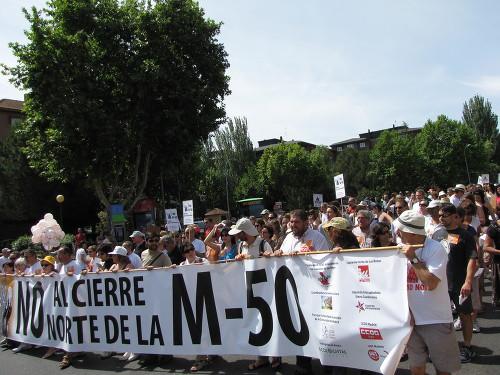 Sanse manifestará su rechazo al cierre de la M-50 aprovechando el Día de la Comunidad de Madrid