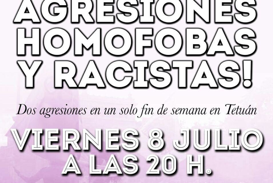 Tetuán se manifiesta en repulsa de la última agresión homófoba