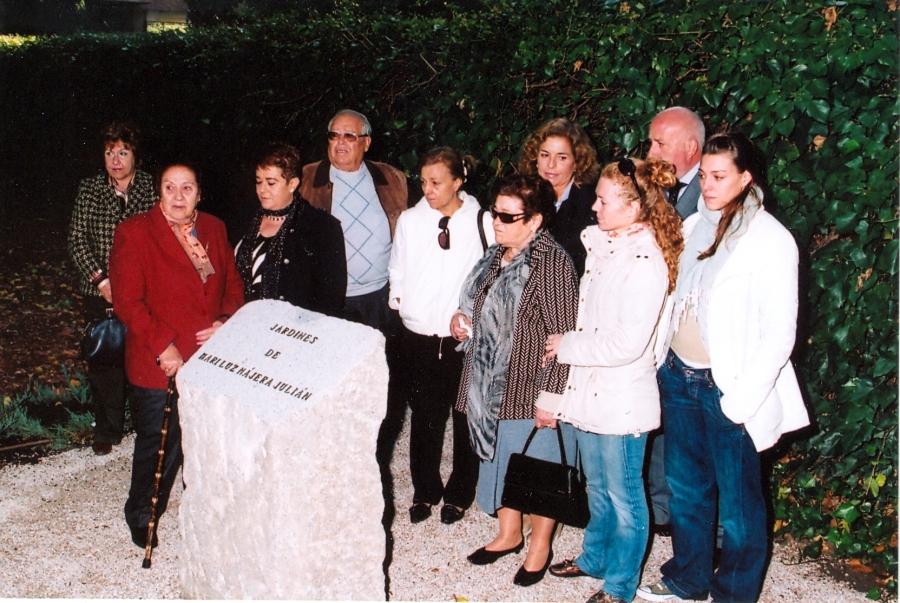 Un parque honrará la memoria de Mª Luz Nájera en la Alameda de Osuna