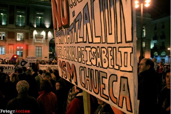 Una concentración y más de 34.000 firmas darán muestra del rechazo social a la privatización del Canal