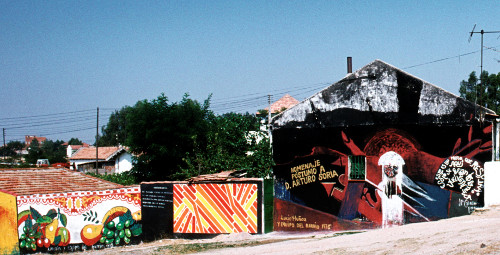 Una exposición conmemora el 40 aniversario de los Murales de Portugalete, una intervención comunitaria única
